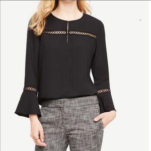 NWT Ann Taylor cutout detailed blouse sz medium